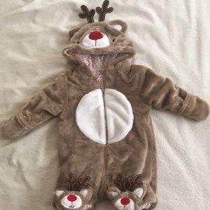NWOT Newborn Reindeer Suit